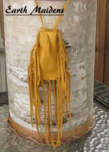 Native American Gold Medicine Bag Cherokee made William Lattie Cert of Auth