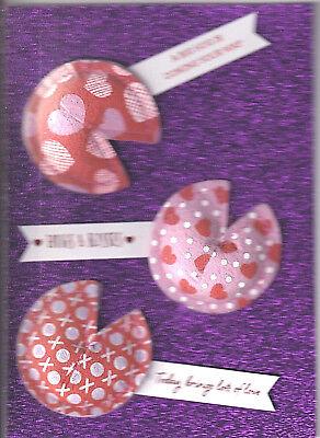 Valentine Fortune Cookies (PAPYRUS VALENTINES CARD NIP MSRP $7.95 FORTUNE COOKIES)