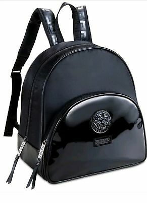 Versace Parfums BackPack Medusa Head faux patent leather Black with dust Bag