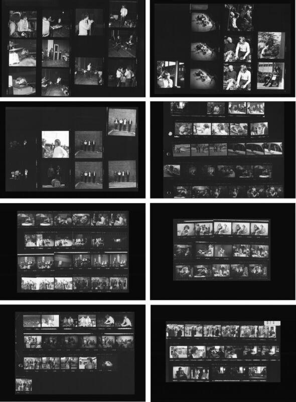 The Doors Jim Morrison concert 1968, 8 rare photo negative contact sheets, Tour.