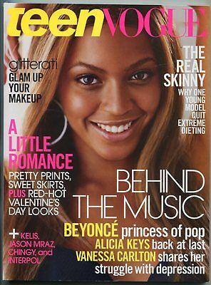 Teen Vogue Magazine February 2004- Beyonce- Fashion- Beauty- Health- Romance