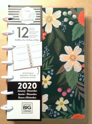 """NEW 2020 the Happy Planner """"LOVELY BLOOMS"""" MINI Planner 12 Months VERTICAL"""