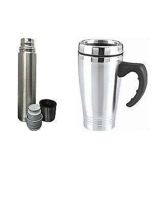 (NEW Vacuum Flask Stainless Steel Coffee Bottle Thermos 500ml Or 16oz Travel Mug )