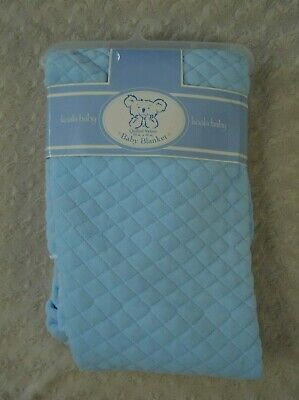 Koala Baby Quilted Velour Baby Blanket Light Blue Vintage 1996 Toys R Us New