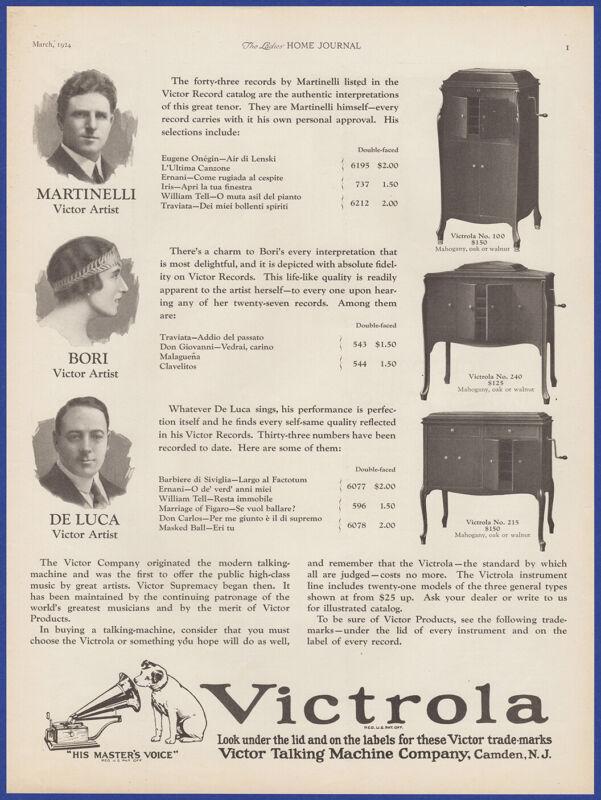 Vintage 1924 VICTROLA Victor Model 100 240 215 Phonograph 20