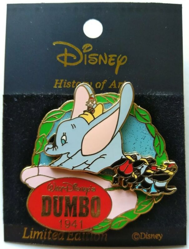 History of Art Dumbo 1941 Magic Feather Timothy Crows Japan Disney Pin LE 1300