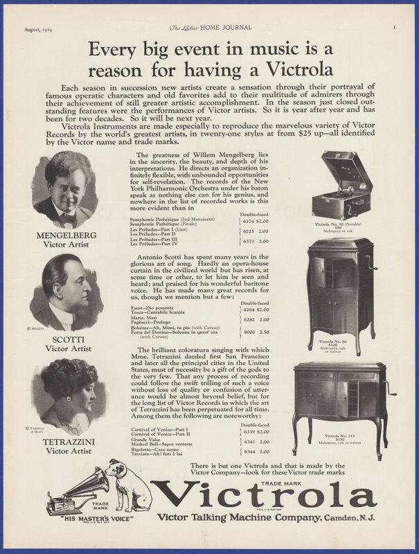 Vintage 1924 VICTROLA Victor Model 50 Portable 80 215 Phonograph 20