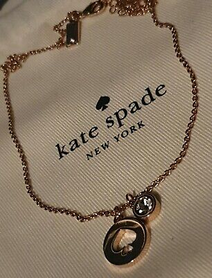 Kate Spade New York Rose Gold Necklace Pendant Chain Jewellery Jewelry Fashion