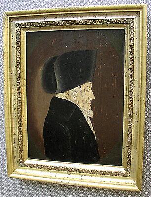 Rares altes Ölgemälde Portrait Josef Ben Zewi von 1817 Zolchau Jude