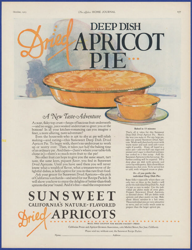 Vintage 1923 SUNSWEET California