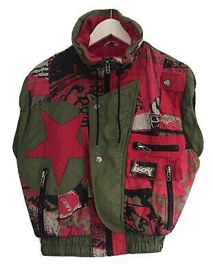 Vintage 1990s BOY sleeveless Ski Shell Body warmer/Gilet Hip Hop Size M