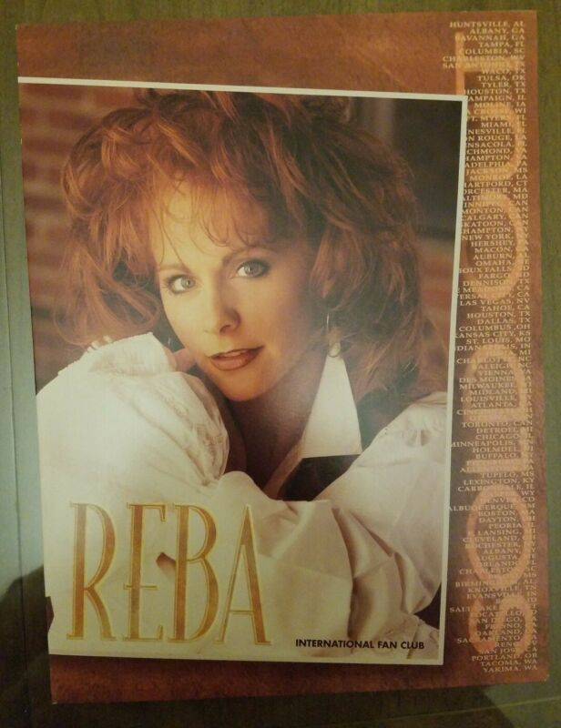 Vintage Reba McEntire International Fan Club Folder Over 20 Years Old Mint- Cond