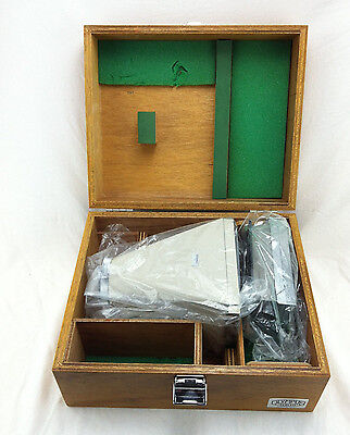 Olympus Polaroid Microscope Camera Film Adapter In Wooden Box