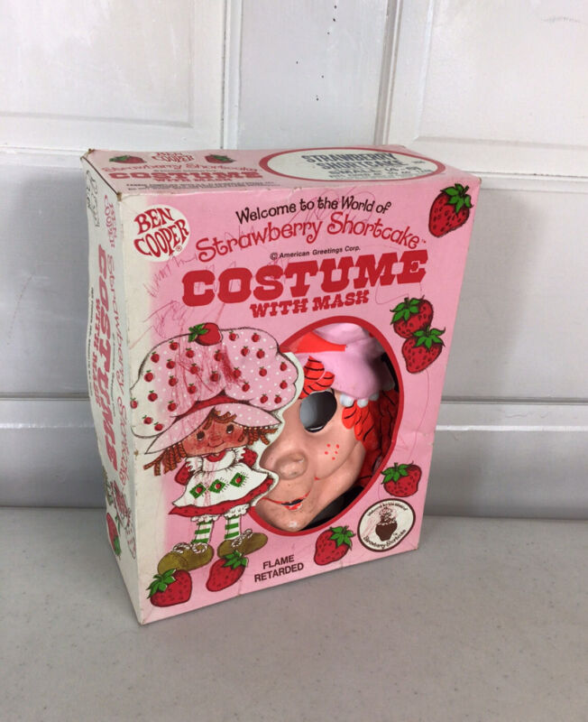 Vintage Strawberry Shortcake Halloween Costume Original Box Kids Small