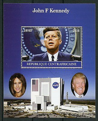 Central African Rep 2016 CTO John F Kennedy JFK 1v M/S II US Presidents Stamps