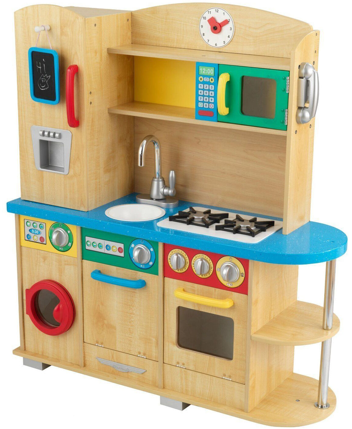 Top 10 wooden kitchens for kids ebay for Play kitchen designs