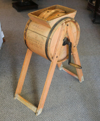 Antique Wooden Churn – Fylers Improved -  H. Holmes & Sons Grafton