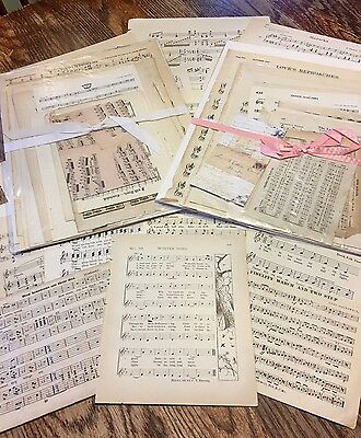 Vintage Paper Music assortment early  Altered Art Craft,18 pages