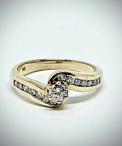 9ct Yellow Gold Diamond Ring Revesby Bankstown Area Preview