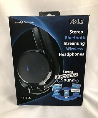 Pyle Home Audio PHBT5O Wireless Bluetooth 3.0 Orange Headphone Technology W/Mic , used for sale  Shipping to India
