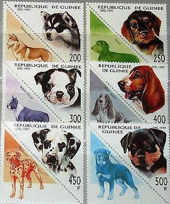 GUINEA 1997 1673 78 1410 1415 HUNDE DOGS DOMESTIC ANIMALS FAUNA TIERE MNH