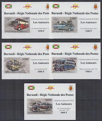H838. Burundi - MNH - Transport - Cars - Busses - Deluxe - Imperf