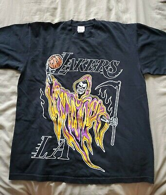 Warren Lotas Lakers Reaper T-Shirt Kobe Lebron Large SOLD OUT