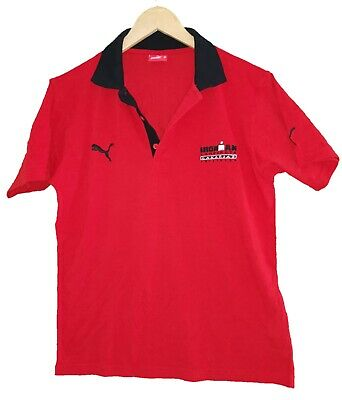 PUMA RED ' IRONMAN TRIATHLON ' POLO SHIRT - Size Small