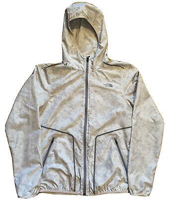 NORTH FACE Windbreaker Jacket Mountain Athletics White Gray Hooded Size Medium