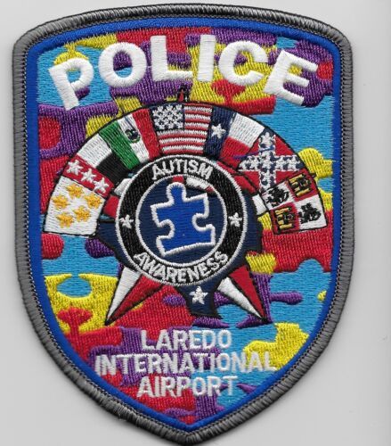 Laredo  Intl Airprt Autism Awareness Police Sheriff State Texas TX Colorful