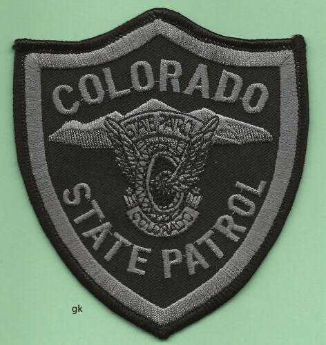 COLORADO STATE PATROL POLICE SHOULDER PATCH   Subdued black