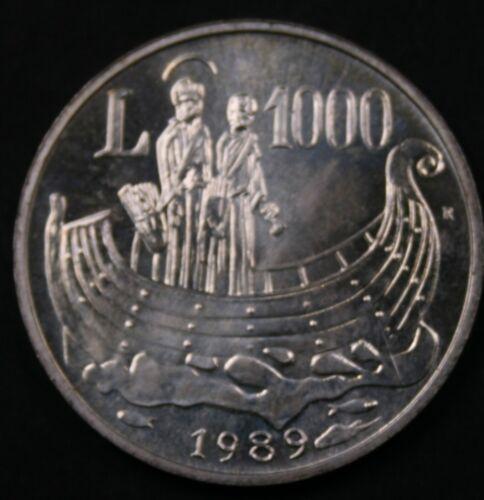 San Marino 1989 1000 Lire - Men in Boat  - BU
