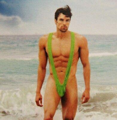 M JGA BADEHOSE GRÜN SLIP TANGA SCHERZARTIKEL MÜTZE NEU PARTY (Kostüm Borat)