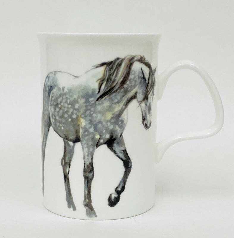 Roy Kirkham MY HORSE Fine Bone China Lancaster Mug 2013 NWOT England RK