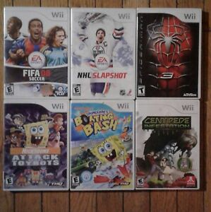 6 Nintendo wii games all complete with cases & instructions