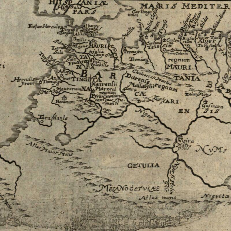 north Africa Barbary coast Morocco Tunisia 1694 Bunonis Heirs old map