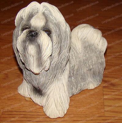 SHIH TZU (Dog) Black/White (Classic Critters, 1984) Heavy (Door Stop)