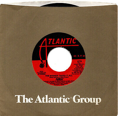 THE WINNER TAKES IT ALL / ELAINE - Abba, Atlantic 3776, 45 RPM