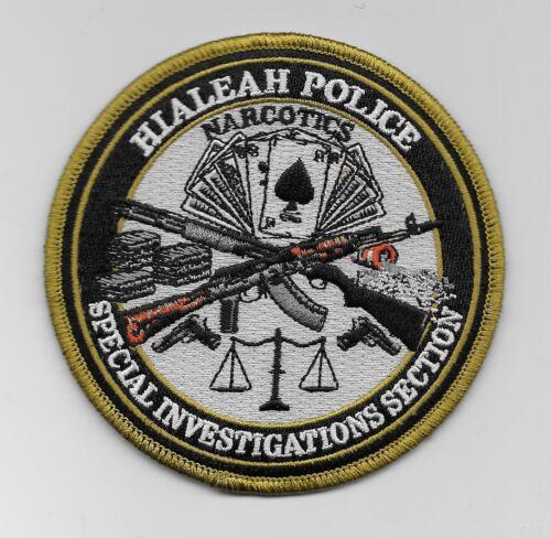 Narcotics Hialeah Police State of Florida FL Shoulder Patch