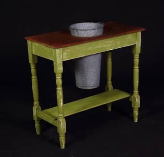 Antique cedar table ideal for florist shop or as wine/beer cooler
