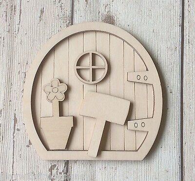 Elf House Laser Cut MDF 15cm high 3mm Hobbit MDF Fairy Door Kit A