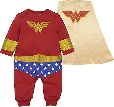 Warner Bros. Wonder Woman Baby Girls' Costume Coverall with Cape