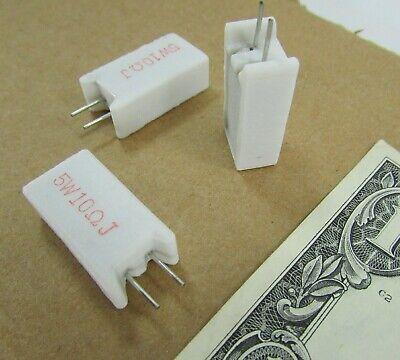 Lot 10 Rg Allen Radial Sand Resistor Vertical 10 Ohm 5w 5 Ceramic Wirewound Sqm