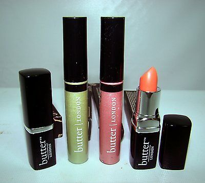 Lot of 4 butter LONDON LIPPY Tinted Balm WINK Cream Eye Shadow Apricot Sunray ++