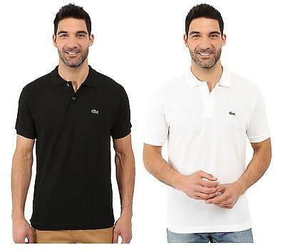 LACOSTE BRAND MENS  Black, White L1212 Classic Pique Polo Shirt Tee All -