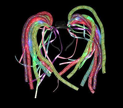 Led Dreadlocks (1x LED Crazy Hair Dreadlocks Flashing Colour Rave Festival Childrens Fancy)