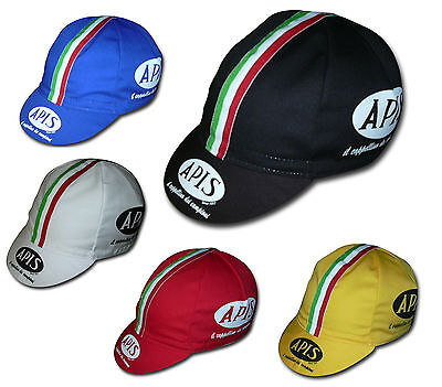 For sale APIS ITALIAN STRIPE MADE IN ITALY RETRO VINTAGE BIKE CYCLING CAP