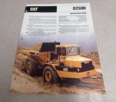 Cat Caterpillar D250d Articulated Truck Dealers Brochure Manual 1992