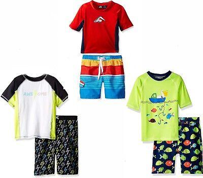 Baby Boy Rash Guard & Swim Trunks Set NWT 12 Mos 3T 4T Kanu,Wippette,Baby Buns