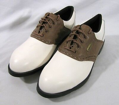 Wilson Golf Shoes Mens Size US 8.5 Brown White Saddle GS117